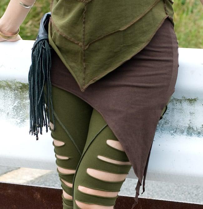 ライクラ素材のストレッチヒップスカートの写真