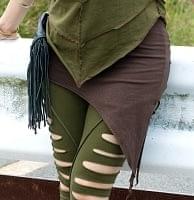 アシンメトリーなストレッチヒップスカートの商品写真