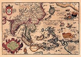 【16世紀】アンティーク地図ポスター[INDIAE ORIENTALIS]【南アジア・東アジア・東南アジア周辺】
