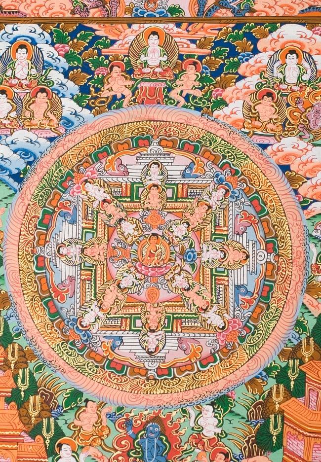 〔一点物〕タンカ -釈迦牟尼仏マンダラ 縦横36x29 2 - 別アングルです