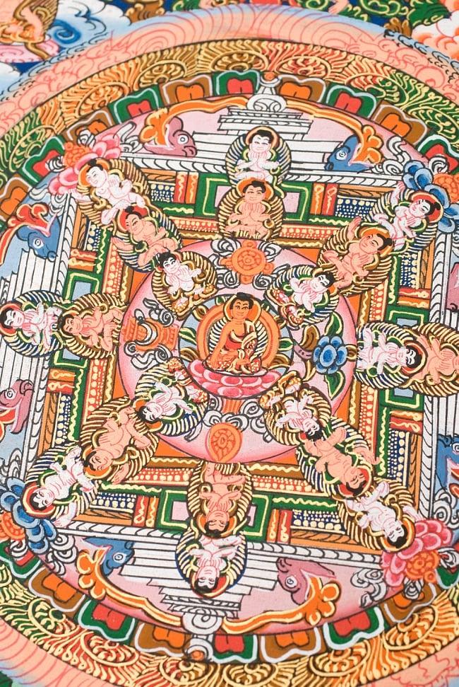 〔一点物〕タンカ -釈迦牟尼仏マンダラ 縦横36x29 3 - 別アングルです