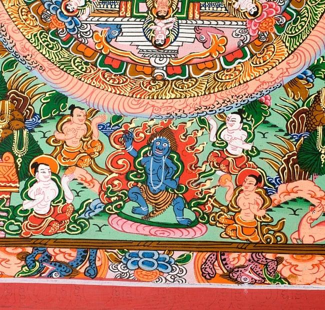 〔一点物〕タンカ -釈迦牟尼仏マンダラ 縦横36x29 5 - 別アングルです