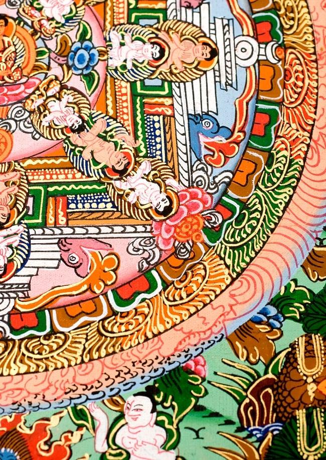 〔一点物〕タンカ -釈迦牟尼仏マンダラ 縦横36x29 6 - 別アングルです