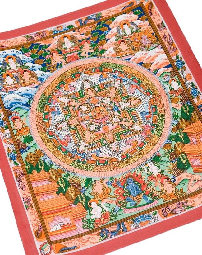 〔一点物〕タンカ -釈迦牟尼仏マンダラ 縦横36x29 8 - 別アングルです