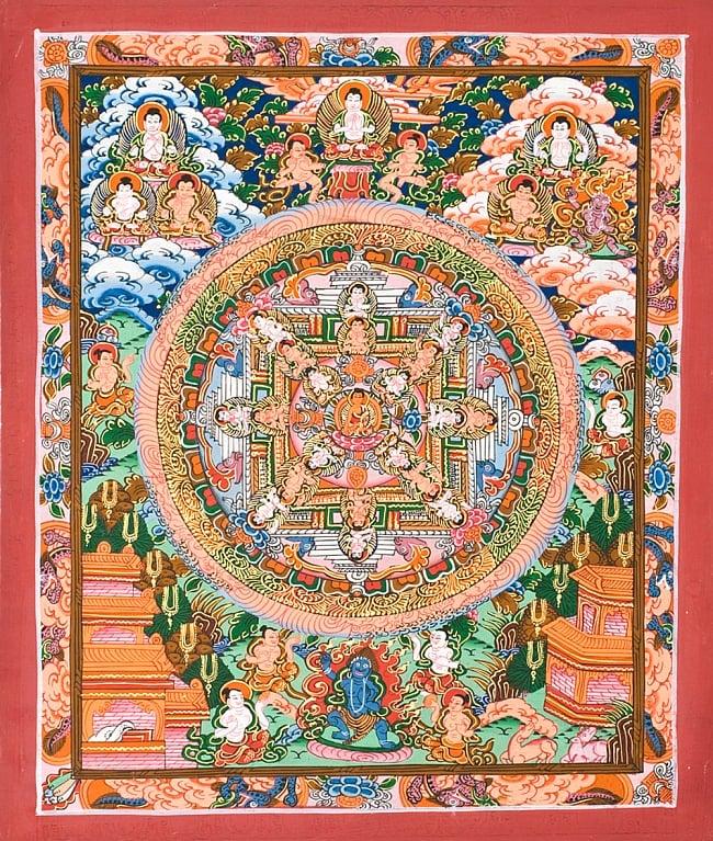 〔一点物〕タンカ -釈迦牟尼仏マンダラ 縦横36x29の写真