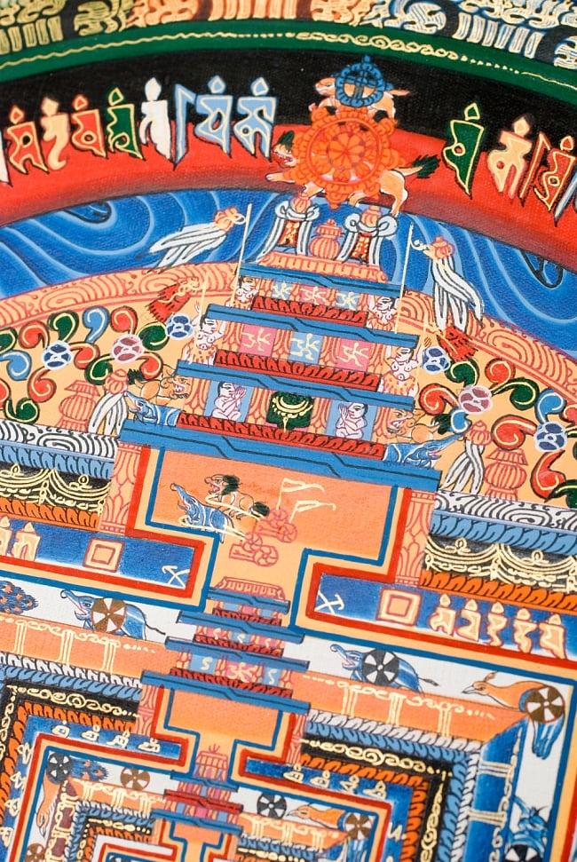 タンカ -カーラチャクラマンダラ(青) 縦横38x38 4 - 別アングルです