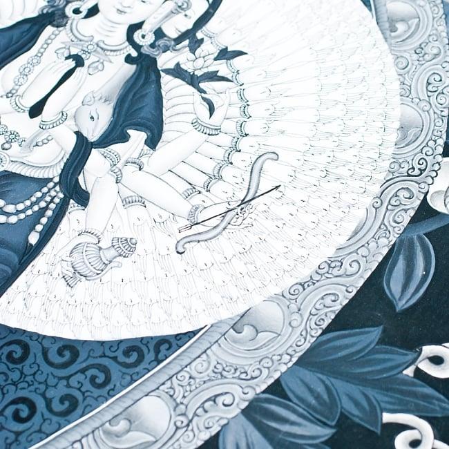 〔一点物〕タンカ -観音菩薩 35x62 3 - 別アングルです