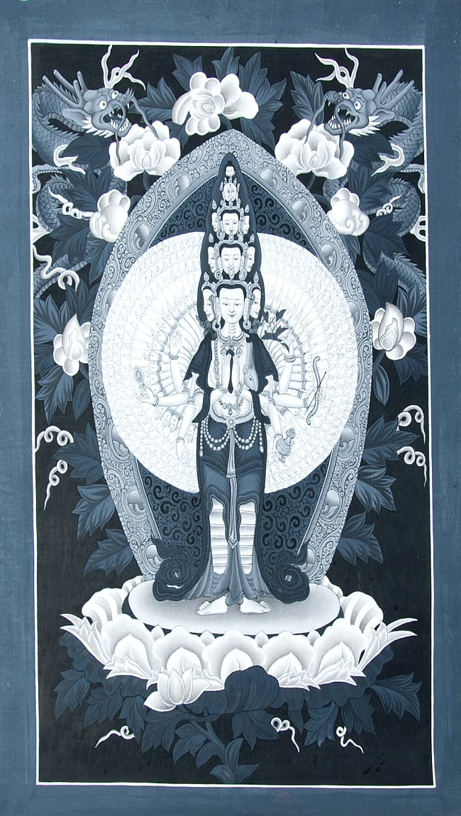 〔一点物〕タンカ -観音菩薩 35x62の写真