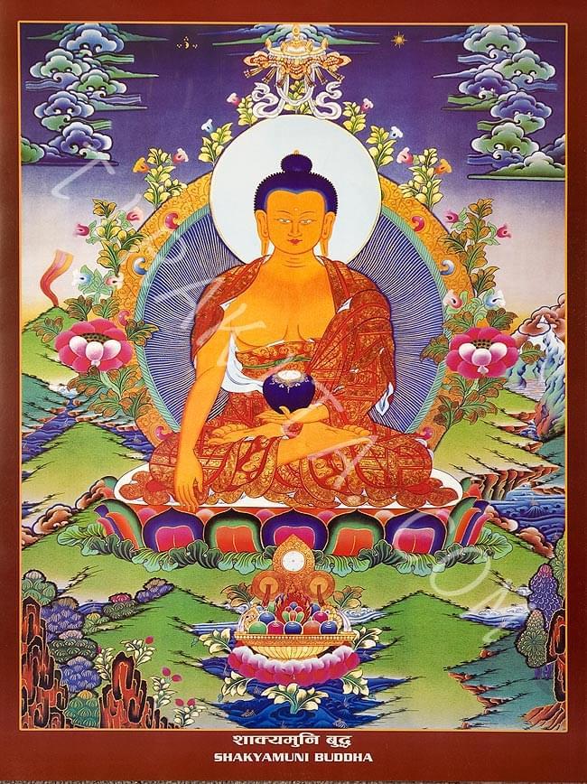 タンカのポスタ - Sakyamuni Buddhaの写真