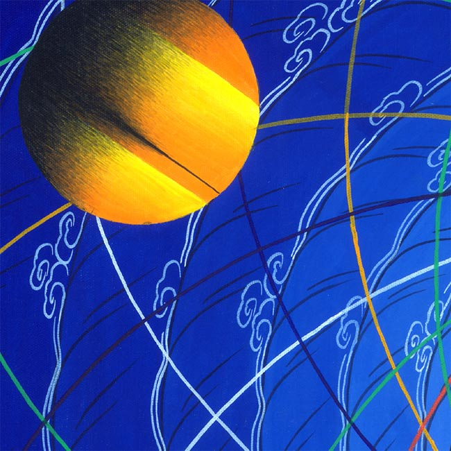[特大]コスモス・マンダラ(宇宙)の写真2 - 中心部を拡大してみました。