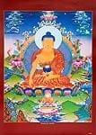 タンカのポスタ - シャカムニ・ブッダ(釈迦牟尼 仏陀)