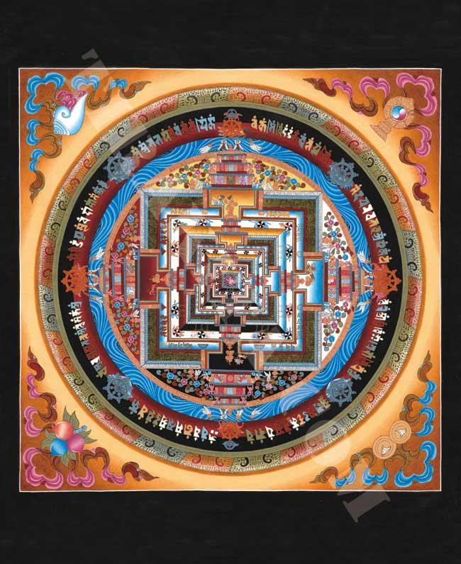 タンカのポスタ - Kala Chakra Mandalaの写真