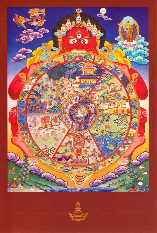 Wheel of Lifeのポストカードの写真