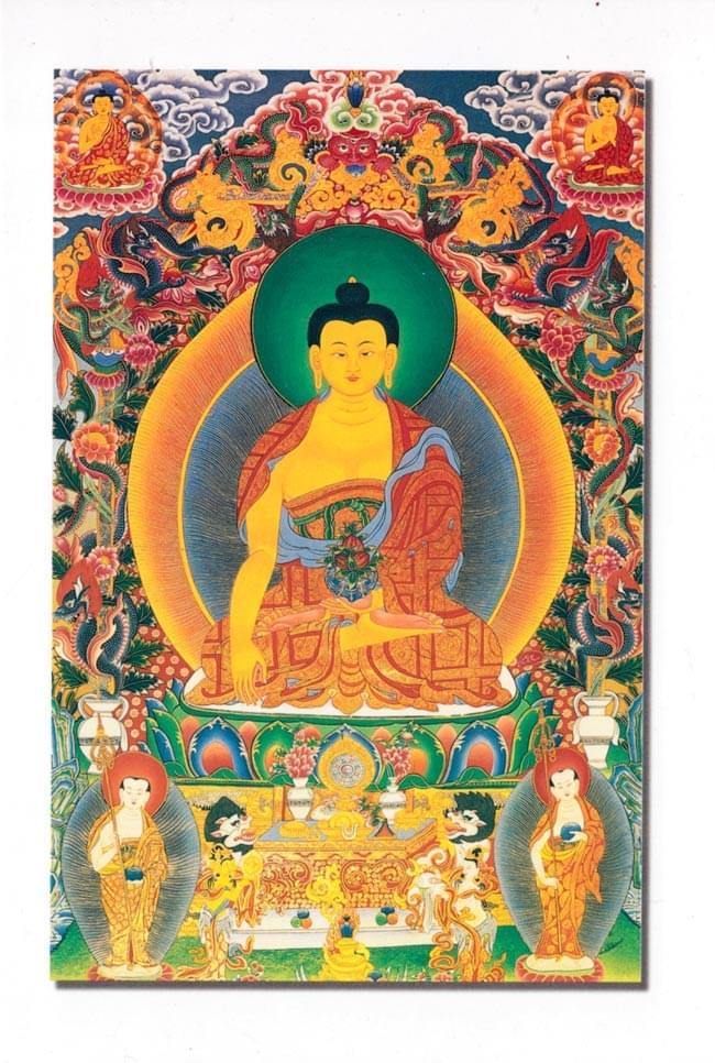 ブッダシャカムニのポストカードの写真