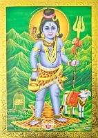 金の神様ポストカード-  シヴァ神 子ども時代