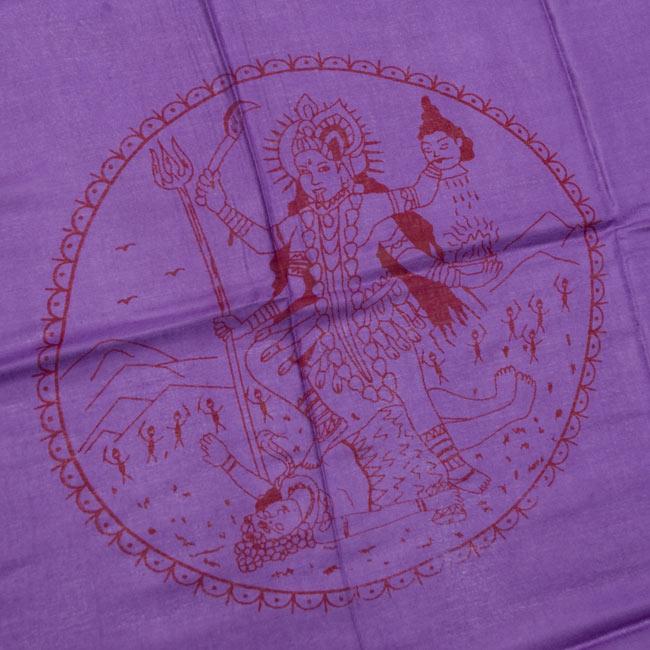 [190cm×100cm]カーリーとシヴァ神 - パープルの写真2 - 柄の拡大写真です