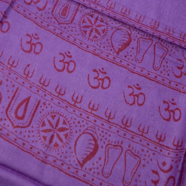 [190cm×100cm]カーリーとシヴァ神 - パープルの写真4 - 一部分をアップにしてみました。