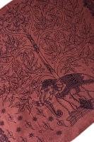 (200cm×100cm)生命の木と象のラムナミ  - 茶色