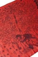 (200cm×100cm)生命の木と象のラムナミ  - サーモン