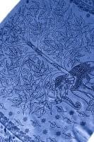 [200cm×100cm]生命の木と象のラムナミ ブルー