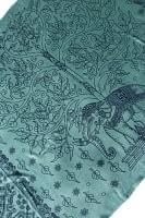 [200cm×100cm]生命の木と象のラムナミ 緑