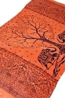 [200cm×100cm]愛の木と象のラムナミ オレンジ