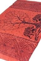 (200cm×100cm)愛の木と象のラムナミ - サーモン