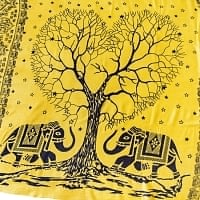 [200cm×100cm]愛の木と象のラムナミ 黄
