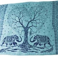 [200cm×100cm]愛の木と象のラムナミ 緑