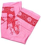 [190cm×100cm]シヴァ神と花柄の大ラムナミ - ピンク