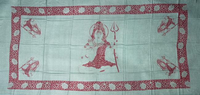 [190cm×100cm]シヴァ神と花柄の大ラムナミ - イエローの写真5 - 約190cm×約100cmのサイズとなっております。(以下の写真は、同ジャンル品のものとなります。)