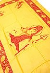 [190cm×100cm]シヴァ神と花柄の大ラムナミ - イエロー
