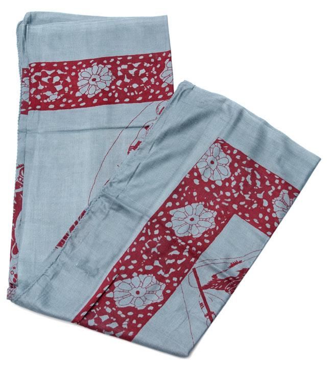 [190cm×100cm]シヴァ神と花柄の大ラムナミ - グレーの写真