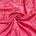 [190cm×100cm]トラに乗ったドゥルガー - ピンク
