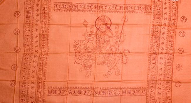 [190cm×100cm]トラに乗ったドゥルガー - オレンジの写真7 - 同じデザインの物を広げてみました。
