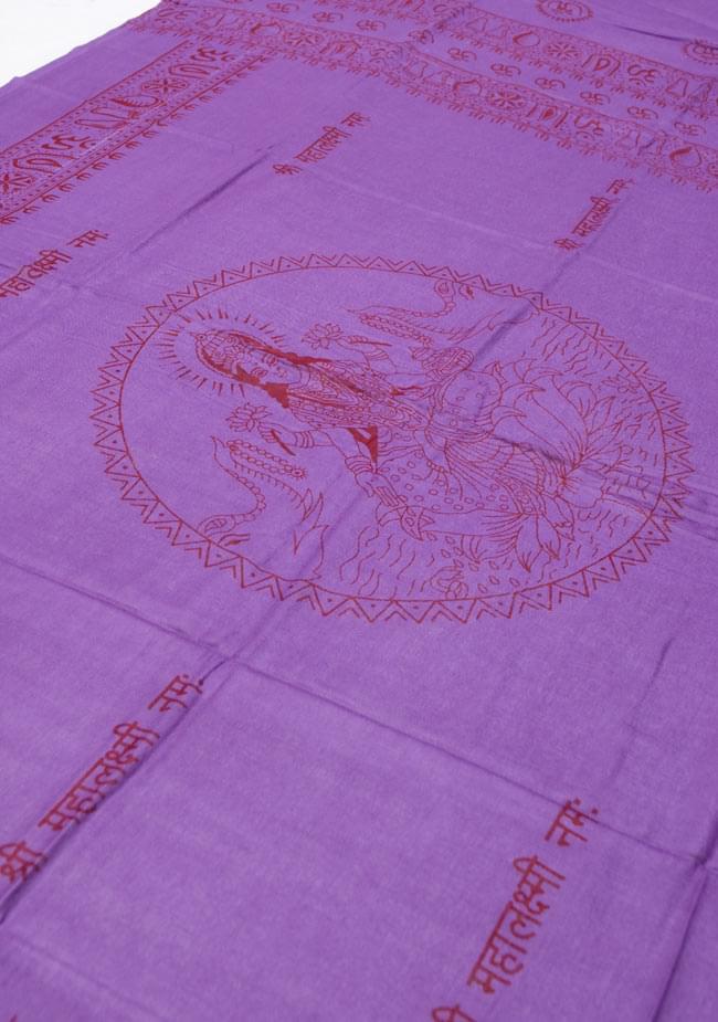 [190cm×100cm]蓮の花とラクシュミ - パープルの写真3 - 全体を斜めの角度から撮ってみました。