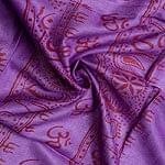 インドとアジアの布のセール品:[サマーセール第二弾!][190cm×100cm]蓮の花とラクシュミ - パープル