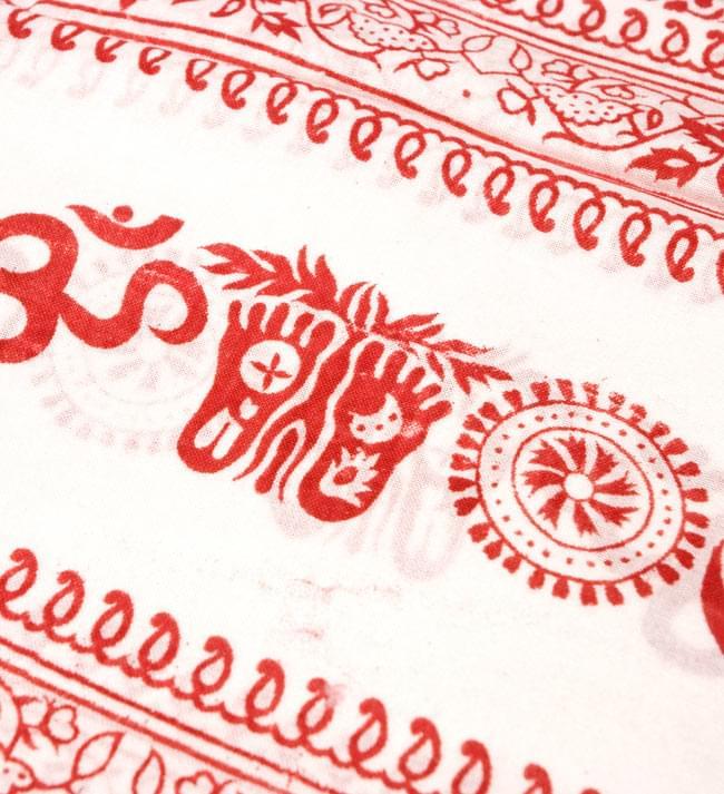 [190cm×100cm]オーンとサンスクリット文字の大ラムナミ - 白の写真3 - 更に拡大です。