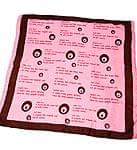 ナザールボンジュウ柄のスクエアスカーフ -ピンク系