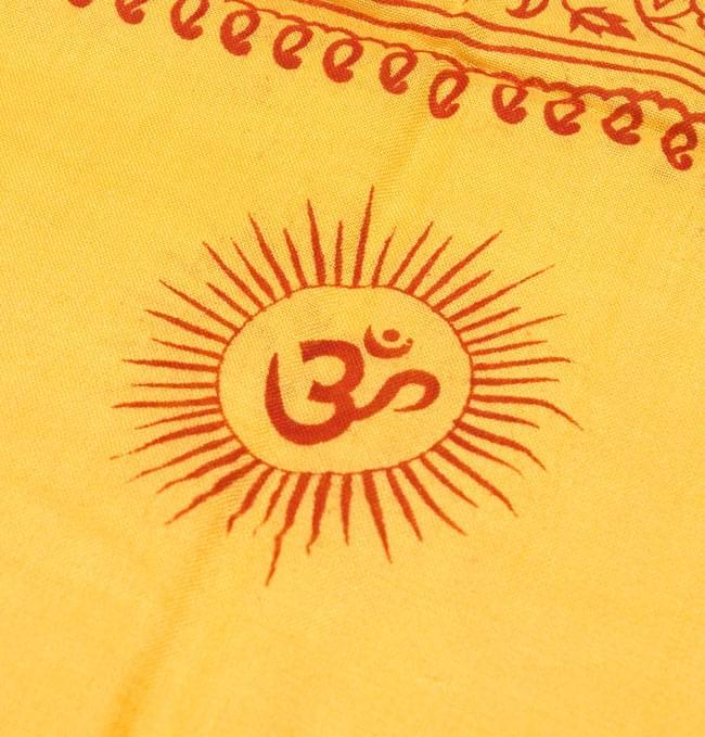 [190cm×100cm]オーンとサンスクリット文字の大ラムナミ - 黄色の写真3 - 更に拡大です。