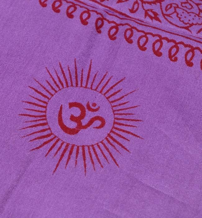 (190cmx100cm)オーンとサンスクリット文字の大ラムナミ - 紫 3 - 更に拡大です。