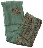 (約125cm×50cm)インド薄ラムナミ【小】 - ミドリ