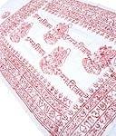[約125cm×50cm]インド薄ラムナミ【小】 - ホワイト×赤文字