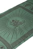 (190cm×100cm)ガネーシャのラムナミスカーフ - 緑
