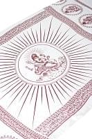 (190cm×100cm)ガネーシャのラムナミスカーフ - 白