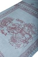 [200cm×100cm]大ガネーシャのラムナミスカーフ - 灰色