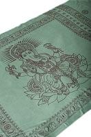[200cm×100cm]大ガネーシャのラムナミスカーフ - 緑