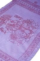 [200cm×100cm]大ガネーシャのラムナミスカーフ - 紫