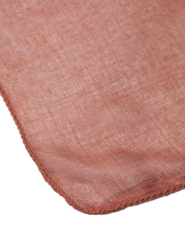 [約180cm×40cm]インド薄ラムナミ【ロング】 - テラコッタの写真4 - 端っこの様子です。