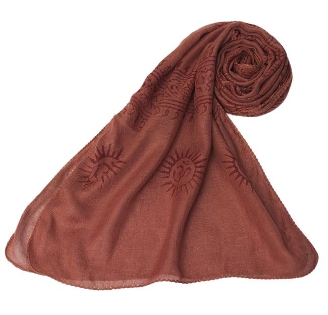 [約180cm×40cm]インド薄ラムナミ【ロング】 - テラコッタの写真6 - スカーフなどにぴったりの布地です。